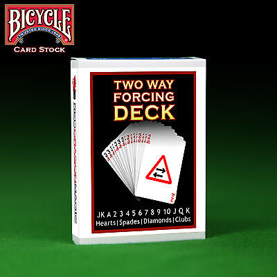 2 Two Way Forcing Deck - Genuine Bicycle Card Stock - Choose Colour Back
