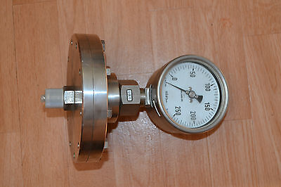 Plate Spring Manometer Duratherm 600 / Stainless Steel / 0-250 mbar / KL : 1,6