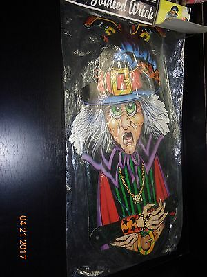 """Vintage Halloween Beistle 1988 40""""Jointed Witch No 01930 UNOPENED NIP"""