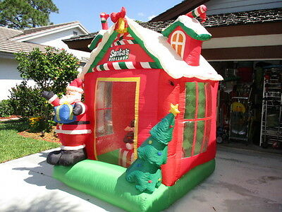 Simply Christmas 8 ft Santa's Workshop Rotating Inside Lights Inflatable Blow Up