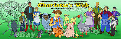 NEW!! EXTRA LARGE! CHARLOTTE'S WEB Panoramic Photo Print HANNA BARBERA