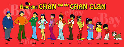 EXTRA LARGE! AMAZING CHAN AND THE CHAN CLAN Panoramic Photo Print HANNA BARBERA