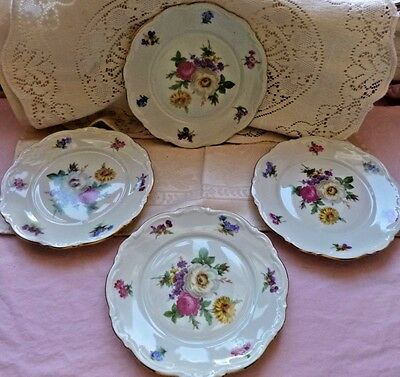 Meissen Mitterteich Bavaria Germany Fine China Bread & Butter Plate Set of 4