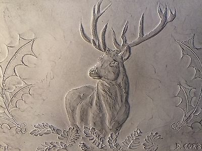 Stag wall sculpture, stag wall plaque, woodland animals, countryside art, farm