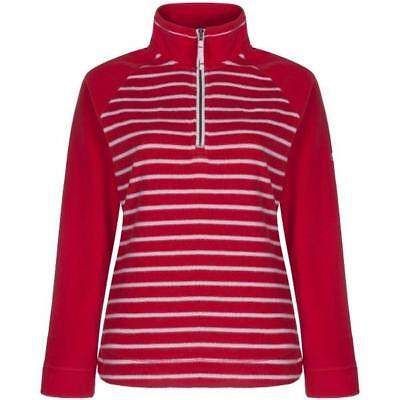 Craghoppers Womens Atalia OUTDOOR WARM Jumper Top Fleece Red Stripe SIZE 8