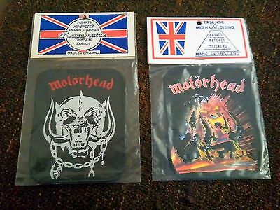 vintage MOTORHEAD patch X 2  80's METALLICA EXCITER IRON MAIDEN HEAVY ROCK shirt