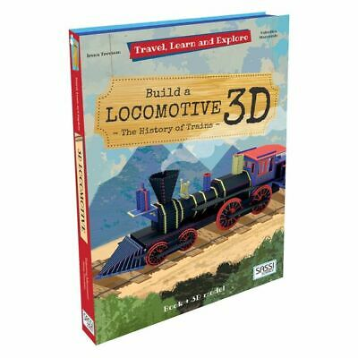 NEW SASSI Travel, Learn, & Explore Locomotive 3D Puzzle and Book