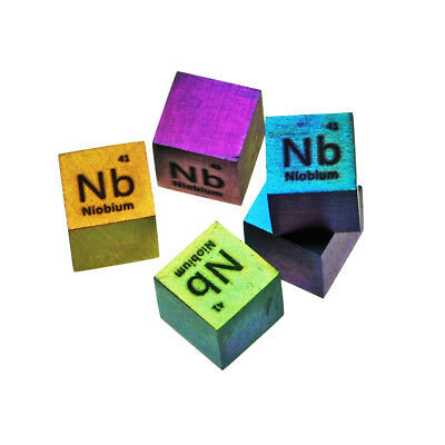 Niobium Metal 10mm Density Cube 99.95% Pure for Element Collection