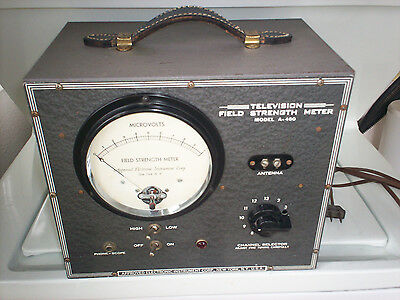 Vintage Field Strength Meter for television A-460 Approved Electronic Intr. Corp