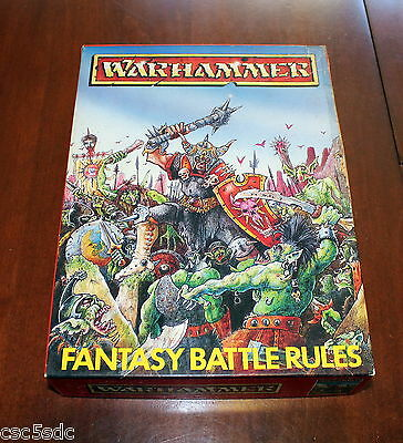 Warhammer Fantasy Battle Rules 2nd edition box set 1984 Games Workshop complete