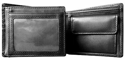 Mt. Eston RFID Blocking Trifold Bifold with Coin Pocket Mens Leather Wallet