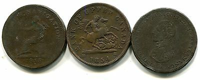 Canada Early 1800s Penny Tokens, Cossack, Trade & Navigation, Wellington