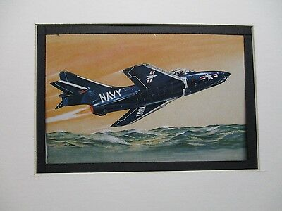 Grumman F9F Cougar  Revell  Model Airplane Box Top Art Color  artist G2