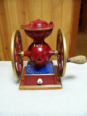 """Enterprise """"Baby"""" # 2 two wheel Coffee Grinder/VG cond./Recently refurbished"""
