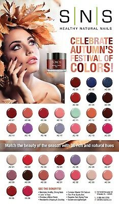 SNS Nail Color Dipping Powder NEW Collection SP 1- SP 24 AC 1 - AC 36 367 - 398