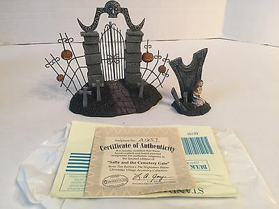 2005 Hawthorne Village Nightmare Before Christmas Sally & The Cemetery Gate Set