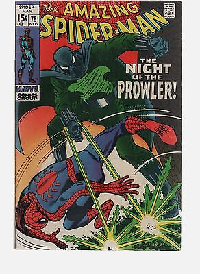 Amazing Spiderman 78  1St Appearance Of The Prowler Marvel Comics