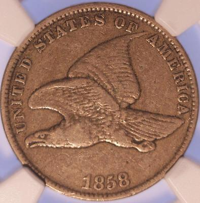 1858 Flying Eagle Cent, Ngc Vf20, Lightly Circulated, Sharply Detailed, Premium!