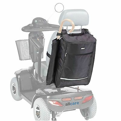 Mobility Scooter Shopping bag with Crutch or Walking Stick Holder