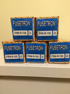 Fusetron FRN-R-150 Dual Element Time Delay Fuses 150A 250V New  (Lot of 5 Pcs )