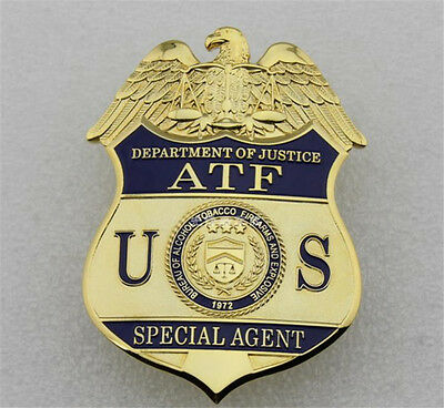 American Copper Badges Special Agent ATF Alcohol Administration Agent US Emblems