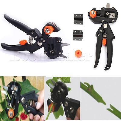 Garden Fruit Tree Grafting Scissors Cutting Pruning Shears Tools Sets + 2 Blades