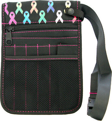 Nurse pouch, Rainbow Care Ribbon bag, utility, Vet, OT, teacher + FREE Cue Card