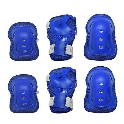 Roller Blading Wrist Elbow Knee Pads Blades Guard 6 pcs Set for Youth Kids sa02