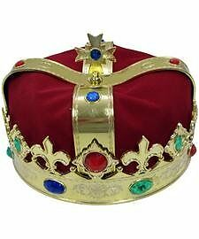 FBAS-JACBFBA19644GLAO-Jacobson Hat Company Mens Kings Crown, Red, Adult