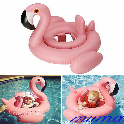 Baby Kid Infant Pink Flamingo Inflatable Float Seat Pool Swimming Ring Water Toy