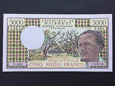 Djibouti 5000 5,000 Francs P38c Series X.002 19050 Issued 1979 Uncirculated UNC