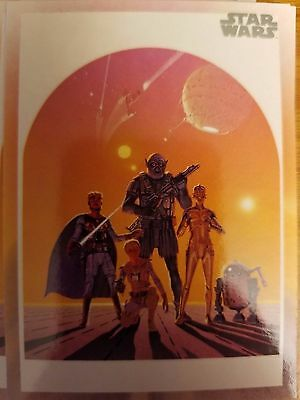 2017 Star Wars 40th Anniversary #119 Star Wars Poster Concept by Ralph McQuarrie