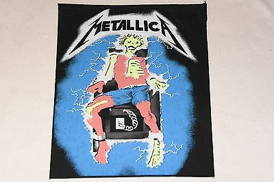 vintage METALLICA  back patch IRON MAIDEN MOTORHEAD OZZY DIO HEAVY METAL 80's