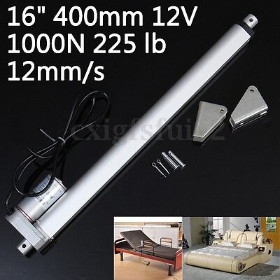 Electric Linear Actuator Motor 16'' 400mm 12V 1000N Heavy Duty Putter + Bracket