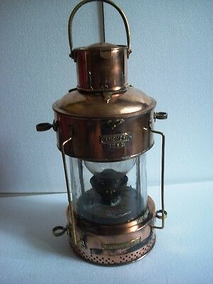 Real ANTIQUE Ship's LIGHT /LANTERN - BT 62 - MASTHEAD -BRASS- M.M.D. APPROVED -