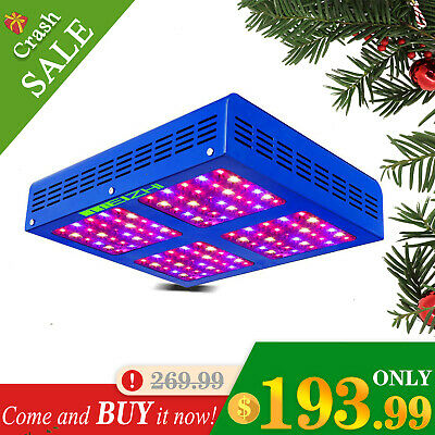 MEIZHI Reflector 600W LED Grow Light Full Spectrum Hydroponic Veg Bloom Plants