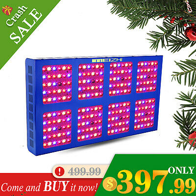 MEIZHI 1200W LED Grow Light Full Spectrum Hydroponic System Medical Plant Flower