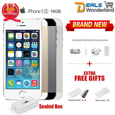 Sealed Box Apple iPhone 5S 16GB 4G Smartphone Grey Silver Gold Unlocked
