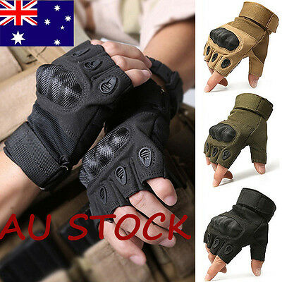 Hot Military Tactical Gloves Fingerless Airsoft Motorcycle Hard Knuckle Outdoor