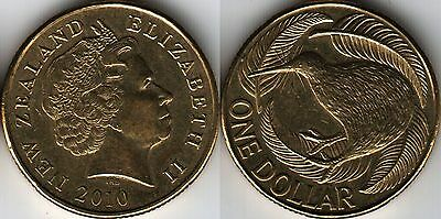 New Zealand $1 One Dollar coin 2010