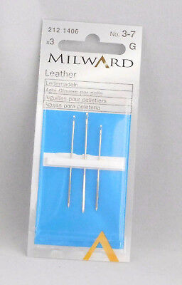 Milward - Leather - Sewing Needles - No.3 - 7 - Hand Sewing