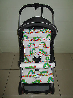 FUNKY BABYZ-Caterpiller reversible universal pram liner-Size,Buy Covers options