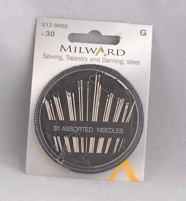 Milward - 30 Assorted Sewing Needles - Hand Sewing - Tapestry - Darning - Sewing