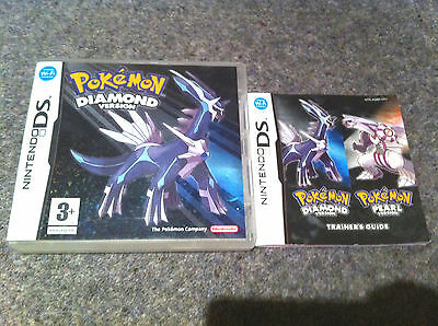 *no Game* Pokemon Diamond Version Case Box & Instructions Only Nintendo Ds.