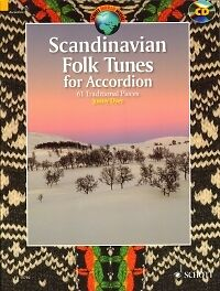 SCANDINAVIAN FOLK TUNES FOR ACCORDION Dyer + CD