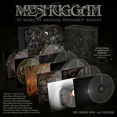 MESHUGGAH – 25 Years Of Musical Deviance – ULTRA CLEAR (LTD 1000) – NEW & BOXED