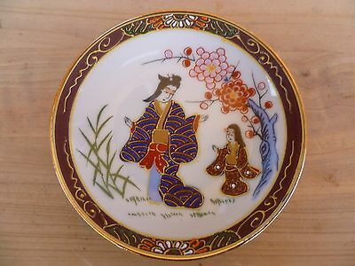 Vintage Old Small Size Japanese Made Pin Dish, Plate (A836)