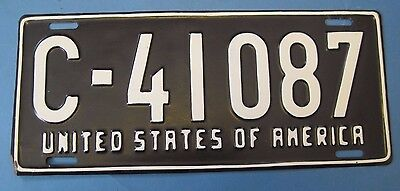 1948-1949 US Forces in Germany license plate