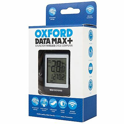 Oxford Data Max 8 Functions Wireless Bike Cycle Speed Odometer Clock Computer
