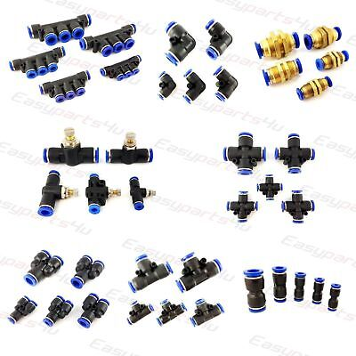 Pneumatic Push In Fittings, Connectors - Air Water Hose tube Quick Release Join